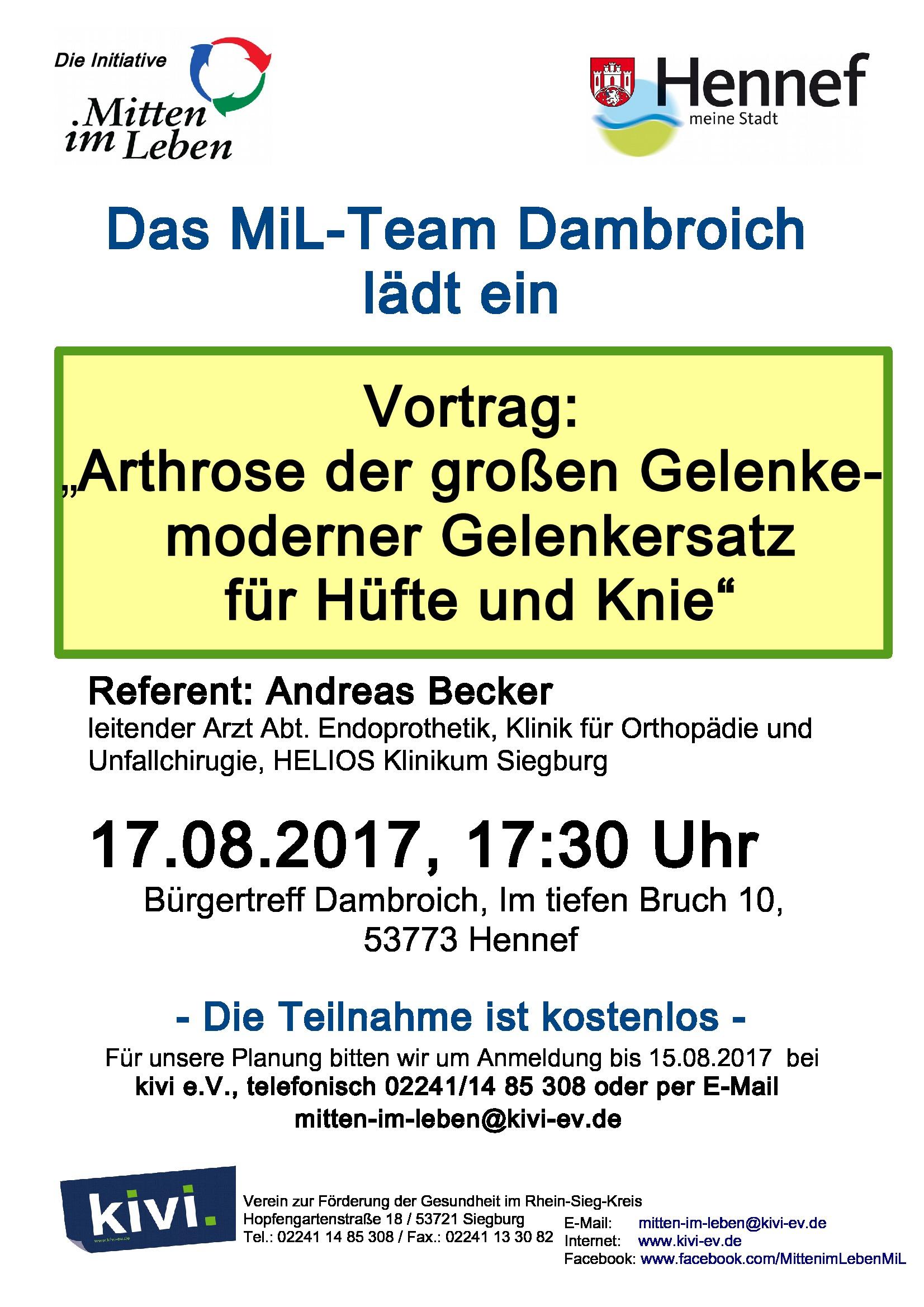 2017 – bürgerverein dambroich e.v., Einladungen
